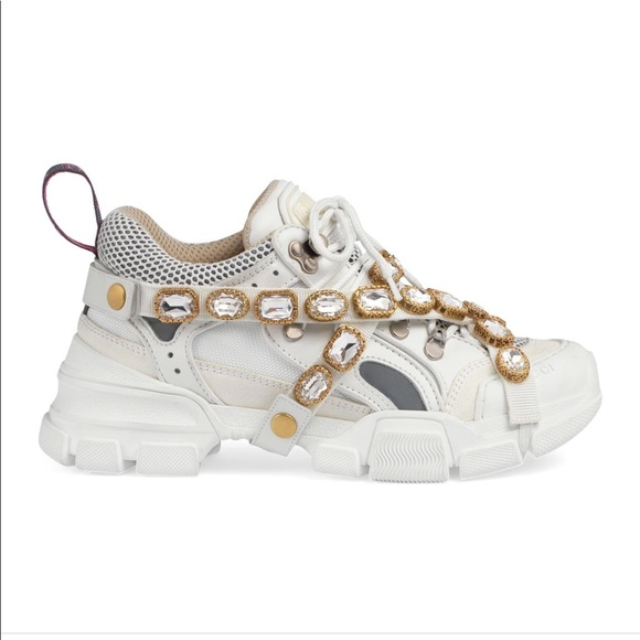 Iso Gucci Embellished Sneakers Size